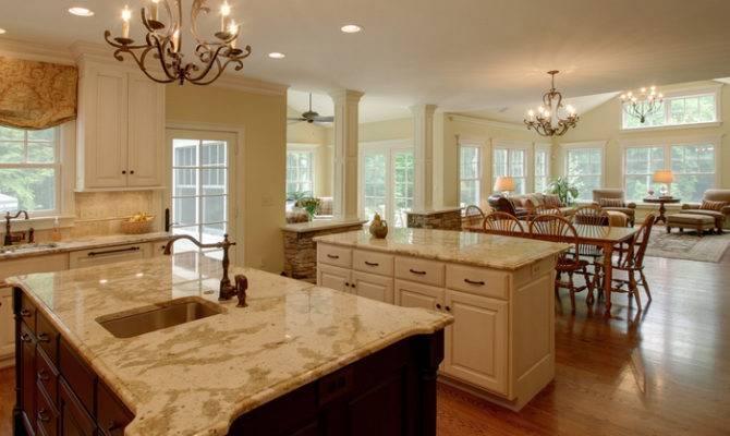 Open Concept Kitchen Living Room Cor