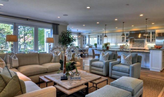Open Concept Living Room Coastal Theme Hgtv