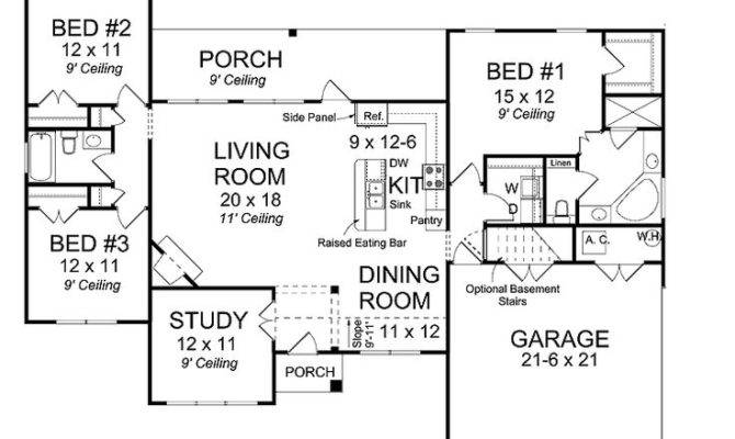 Open Concept Ranch Home Plans Homes Floor
