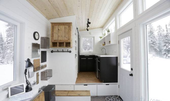 Open Concept Rustic Modern Tiny House Tour