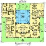 Open Courtyard House Floorplan Southwest Florida
