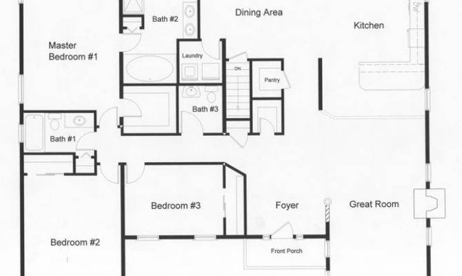 Open Floor House Plans Plan Downing