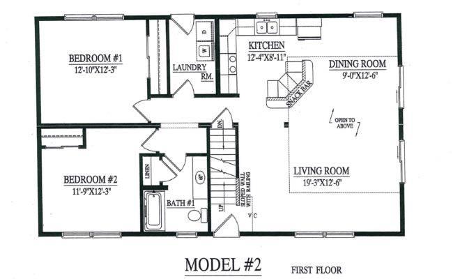 Open Floor Plan Good Model Cape Chalet Modular Home Layout