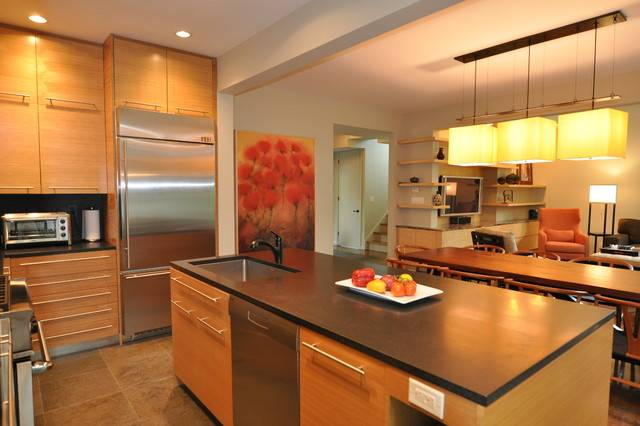 Open Floor Plan Kitchen Contemporary New