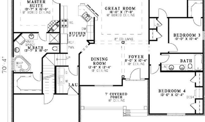 Open Floor Plan Ranch Plans Home Deco