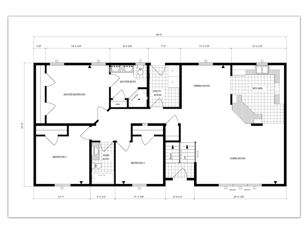 Open Floor Plan Square Feet