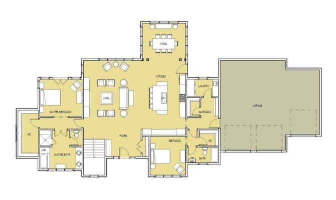 Open Floor Plan Vaulted Ceiling Main Master Bedroom