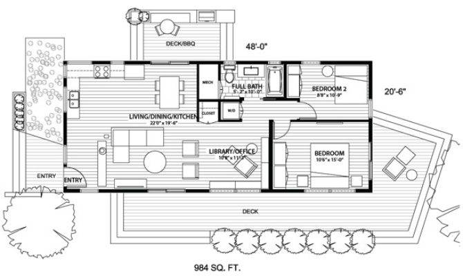 Open Floor Plans Blu Homes Little House Valley