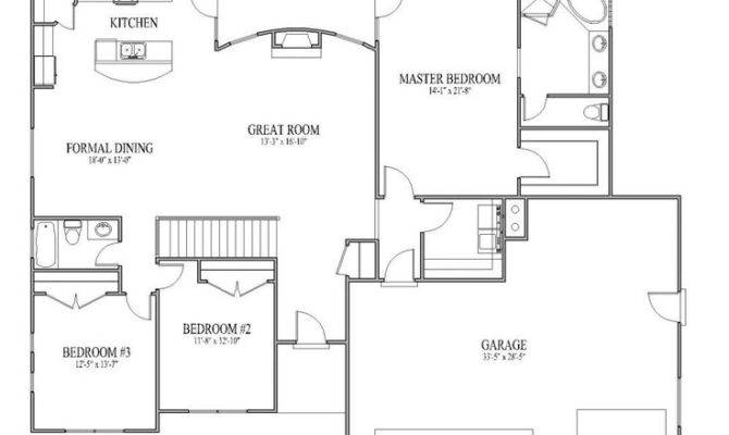 Open Floor Plans Patio Home Plan House Designers