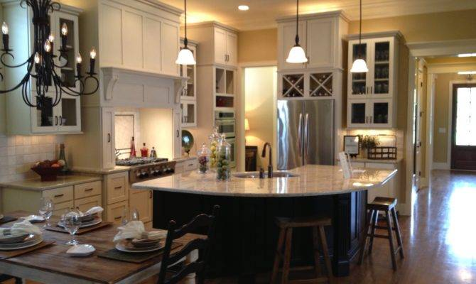 Open Kitchen Dining Room Floor Plans Large Beautiful