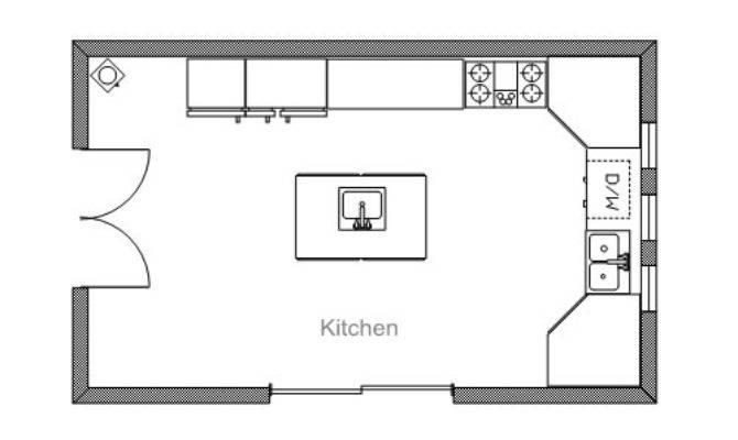 Open Kitchen Floor Plans Islands Home Constructions