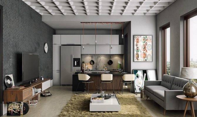 Open Kitchen Living Room Interior Design