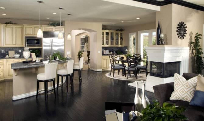 Open Living Area Kitchen Room
