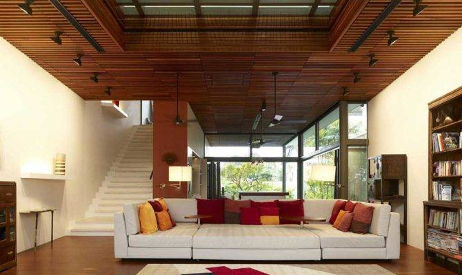 Open Living Room Wooden Ceiling Ideas Designingathome