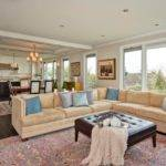 Open Room Neutral Sectional Cozy