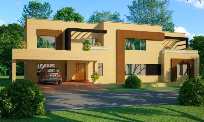 Open Space Double Storey House Designs