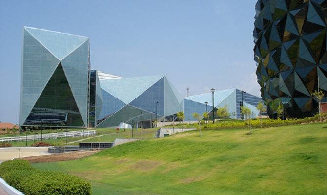 Origami Building Sdb Multiplex Infosys Mysore