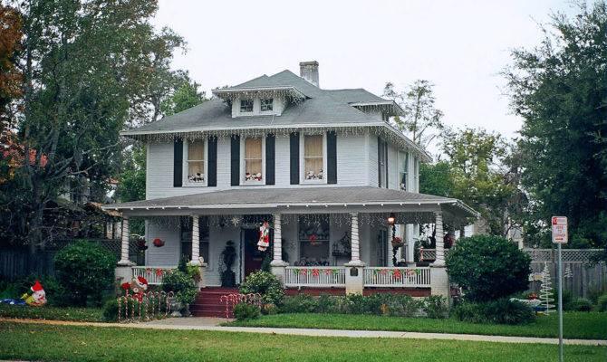 Original Modern American Foursquare House Plans