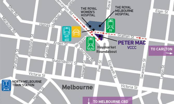 Our New Home Map Peter Maccallum Cancer Centre