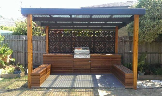 Outdoor Bbq Entertaining Area Landscaping Services Melbourne