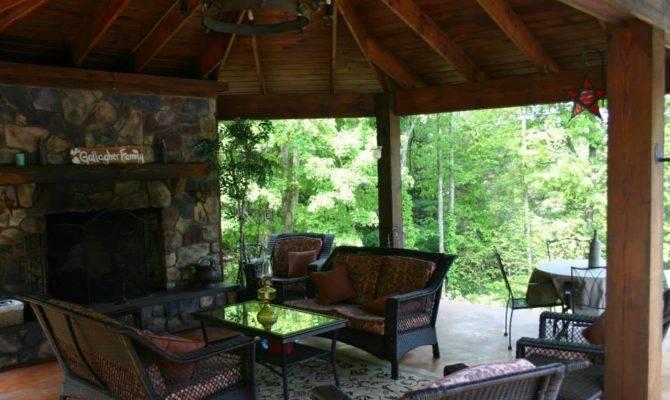 Outdoor Gazebo Fireplace
