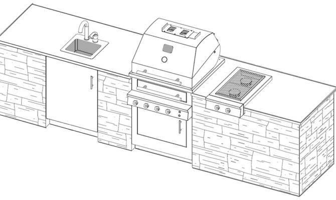 Outdoor Kitchen Plans Cad Pro