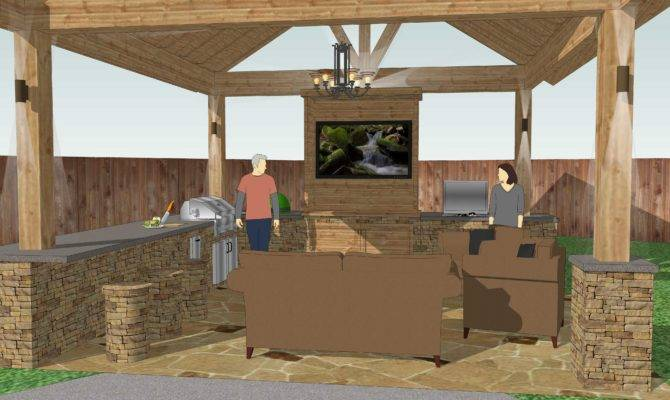 Outdoor Kitchen Plans Decor Design Ideas