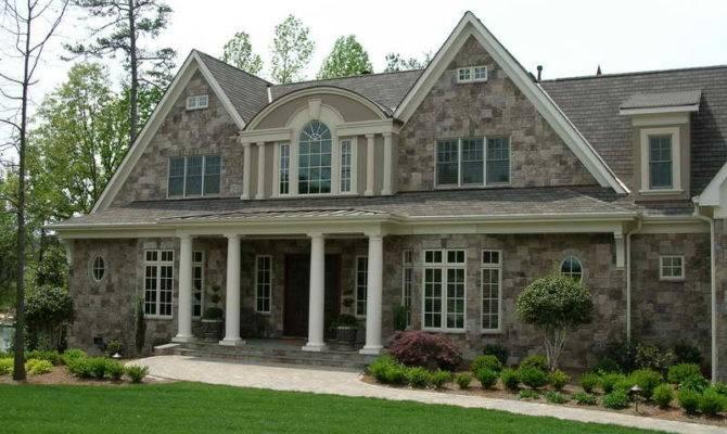 Outdoor Stone Veneer Houses Window