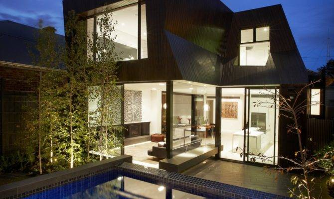 Outdoor Swimming Pool Design Contemporary Enclave House
