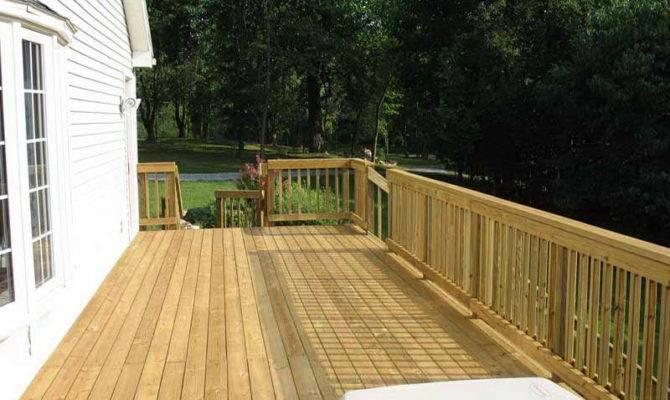 Outdoor Wood Deck Designs Natural Color Decks