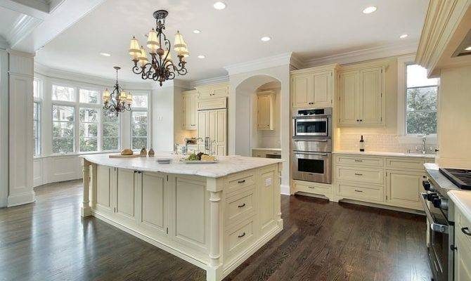 Outstanding Off White Cabinets Floors Kitchen