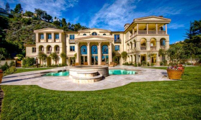 Palatial Bel Air Estate Homes Rich