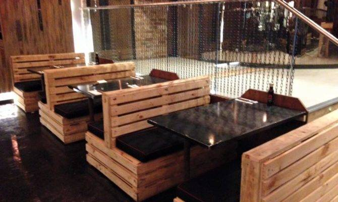 Pallet Seating Set Restaurant Furniture Plans