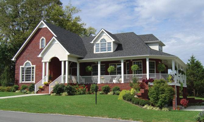 Parc Crest Country Ranch Home Plan House Plans