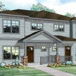 Parkridge Duplex Multi Plan Front Elevation