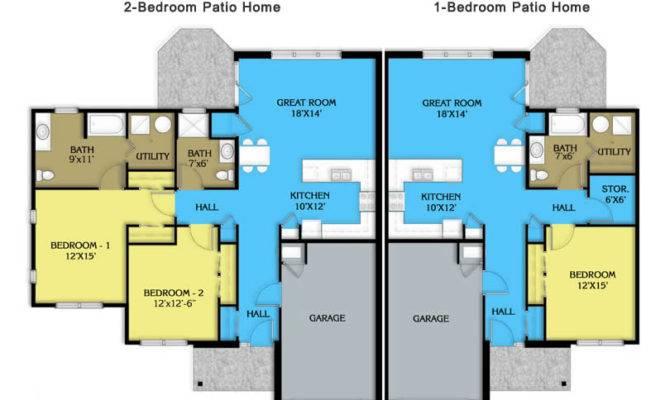 Patio Home House Plans Designs
