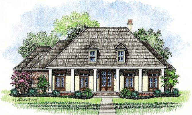 Patterson Louisiana House Plans Country French Home