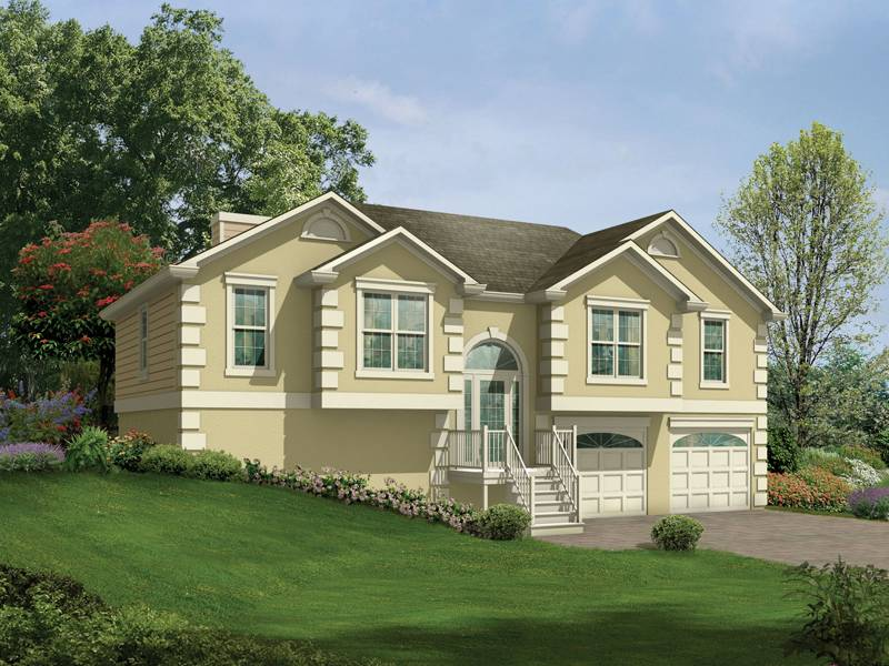 Penfield Split Level Home Plan House Plans