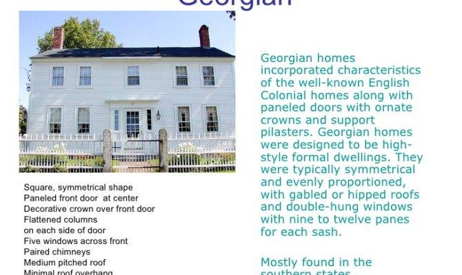 Perfect Characteristics Georgian Architecture