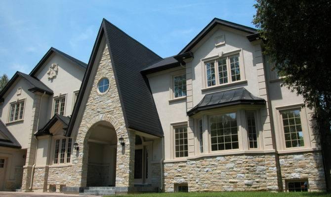 Perfect Marriage Stone Veneer Stucco Finish