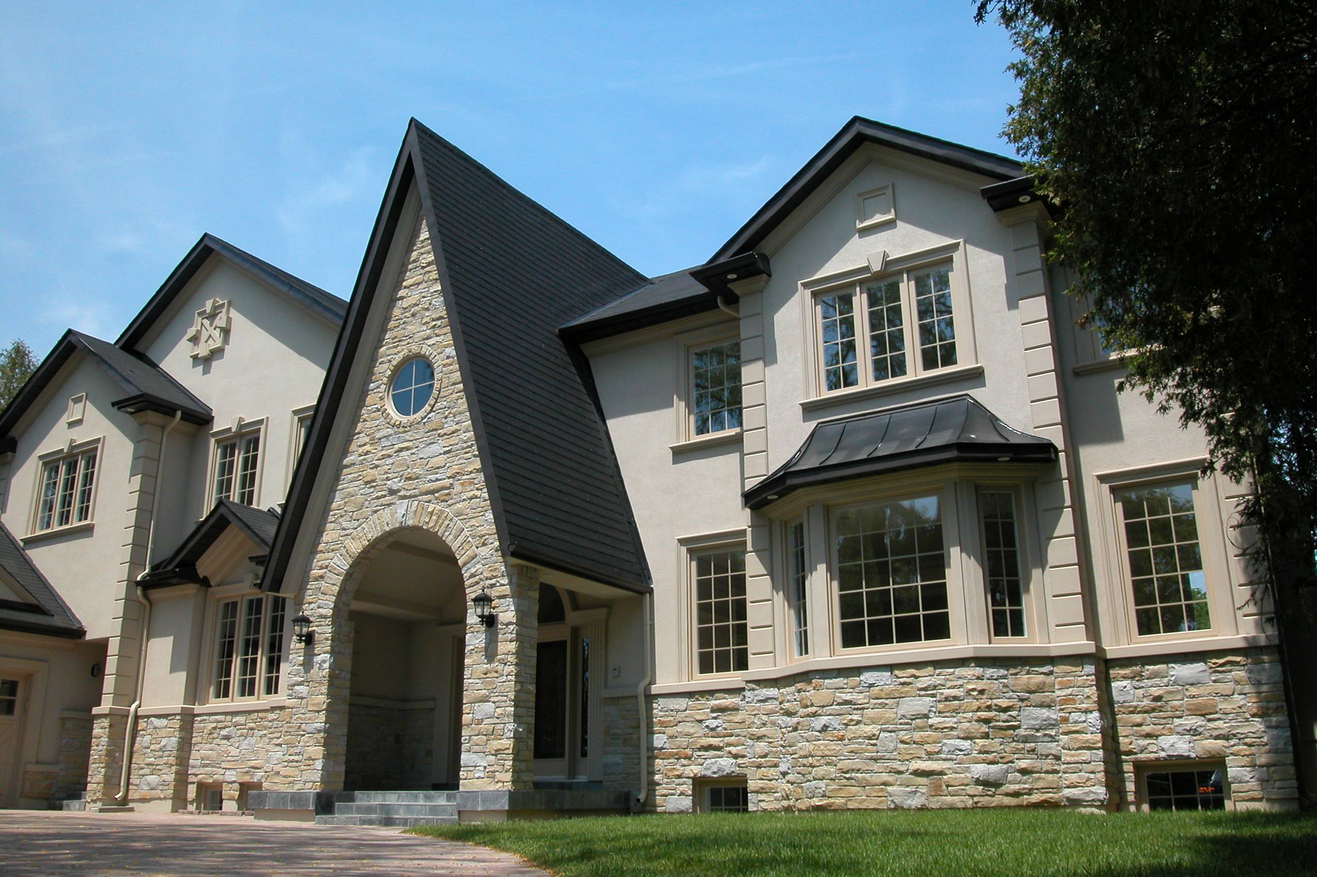 Perfect Marriage Stone Veneer Stucco Finish