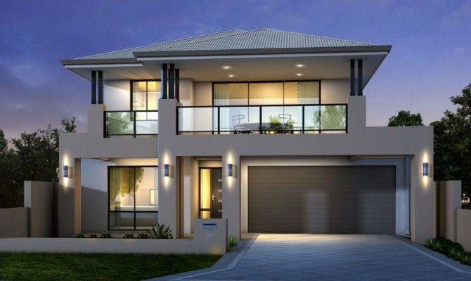 Perfect Modern Two Story House Plans Collection Pool Fresh