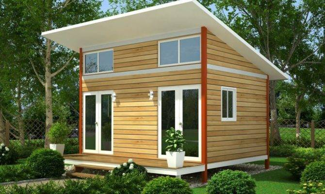 Perfect Slanting Roofing Wooden Small Houses Double