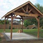 Pergola Picnic Pavilion Then Barbecue Rose
