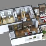 Photoreal Bedroom Floor Apartment Model Max Cgtrader