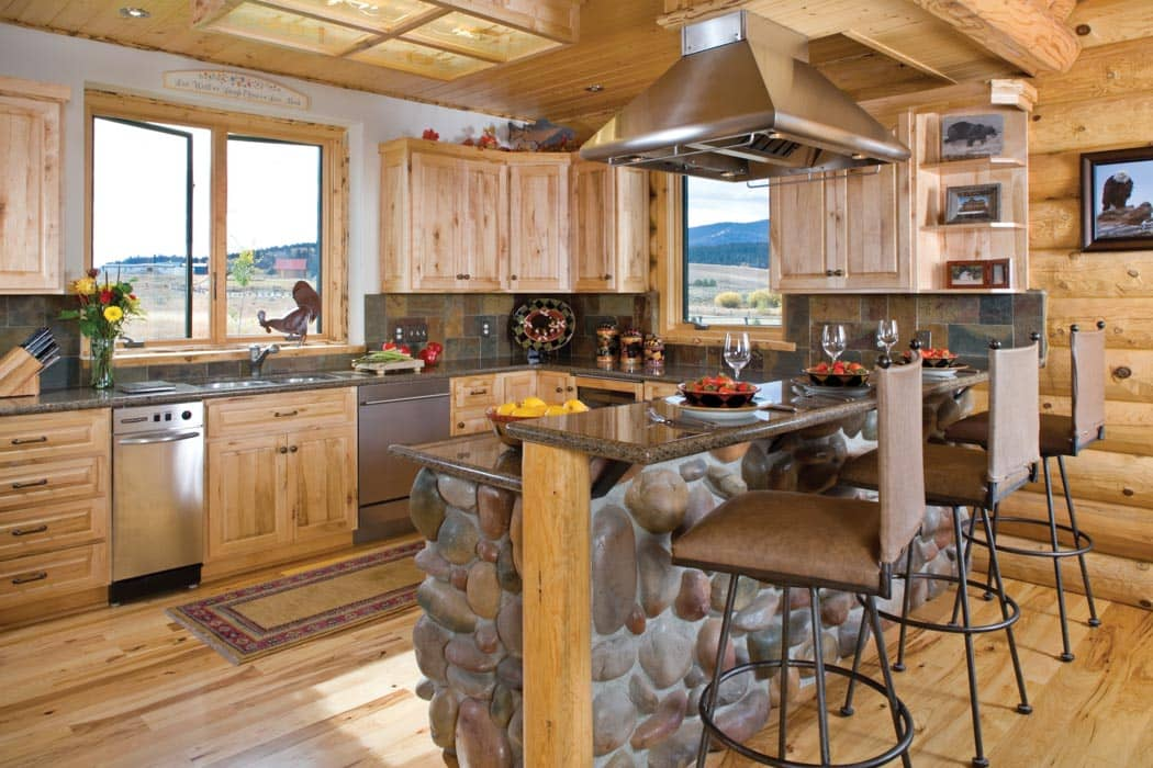 Photos Timber Log Home Kitchens Dining Rooms