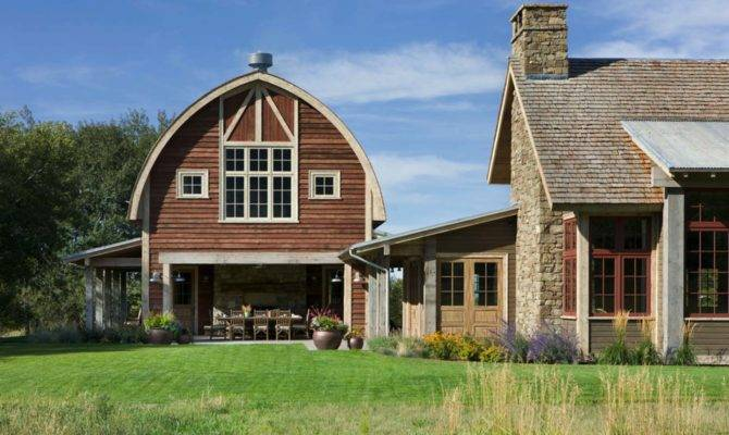 Picturesque Montana Farmhouse Attached Barn