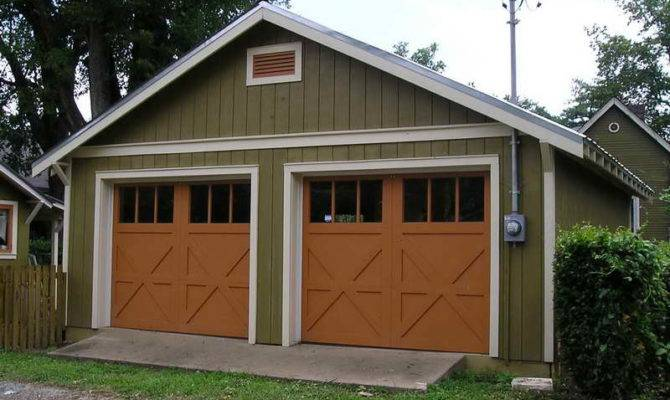 Pin Detached Garage Craftsman Shed Pinterest