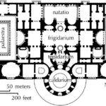 Plan Baths Caracella Early Imperial Period