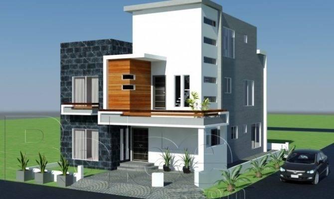 Plan Beautiful Front Elevation Modern House Design Gujrana